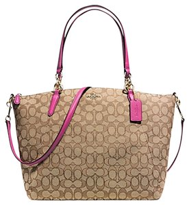 Coach Satchel in khaki dahlia