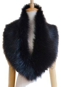 Animal black fur blend warm winter for coat fur shawl wrap scarf fox blend luxury faux