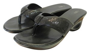 Cato Size 9.00 Wide Width Black Sandals