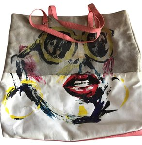 Miss Sixty Big Hard To Find Tote in White/Black/Khaki/Yellow/Pink/Red