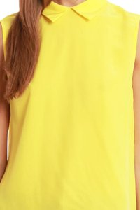 Equipment Sleeveless Silk Top yellow