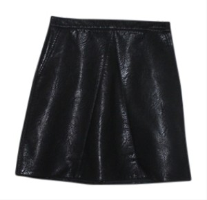 Zara Faux Letaher Mini Skirt Black