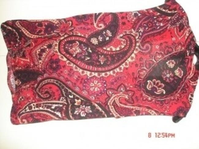 INC International Concepts Top paisley red and black
