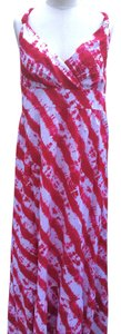 Pink/white Maxi Dress by Calypso New Tie Dye