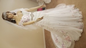Custom Made Two Piece Mermaid Dress With Removable Train. Wedding Dress