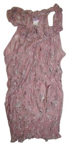 Body Central Sleeveless Top Pink Floral print