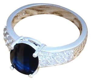 Other Sapphire And white Topaz Ring