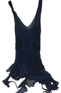 bebe Top Navy blue and black