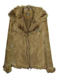 XOXO Suede Faux Fur Fur Coat