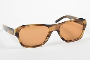 Saint Laurent Yves Saint Laurent Brown Tortoise Shell Acrylic Oval Frame Sunglasses