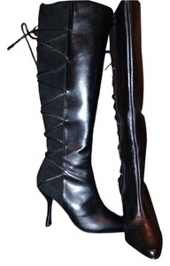 Charles Jourdan Suede Leather black Boots