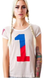 Rebel Yell T Shirt White/ W/ Red & Blue Lettering