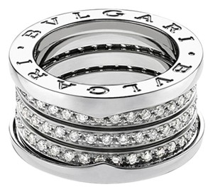 BVLGARI Bvlgari B.Zero1 18K White Gold Diamond 4 band Ring AN850556 US 4.75