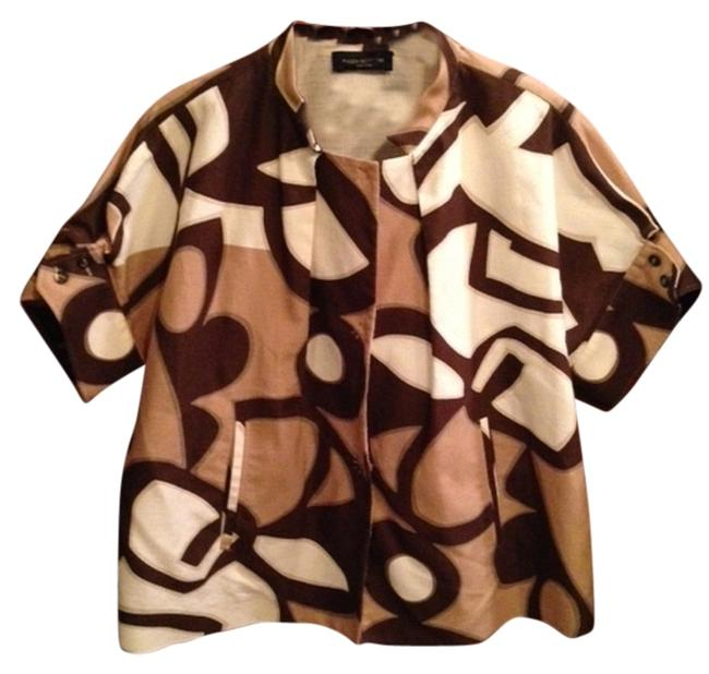 Preload https://item3.tradesy.com/images/piazza-sempione-brown-beige-white-size-12-l-1302982-0-0.jpg?width=400&height=650