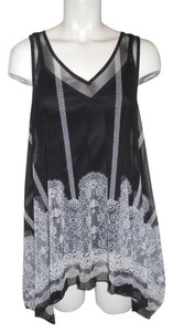 INC International Concepts Tank Sheer Mesh Handkerchief Tunic