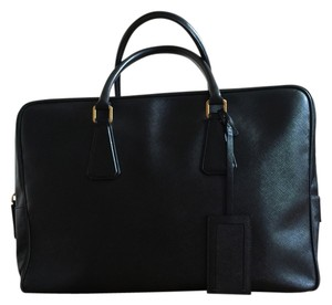 Prada Briefcase Weekend Computer Tote in Black