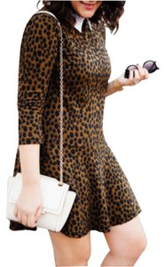 Ann Taylor LOFT short dress Leopard on Tradesy