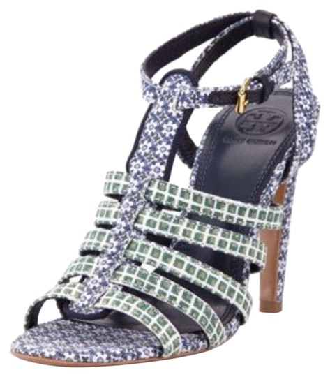 Tory Burch Calico blue green Sandals