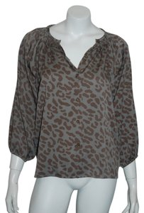 Tucker Silk Pattern Black Butterfly Top gray