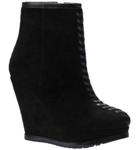 Isola Modern Style Wedge Suede BLACK Boots