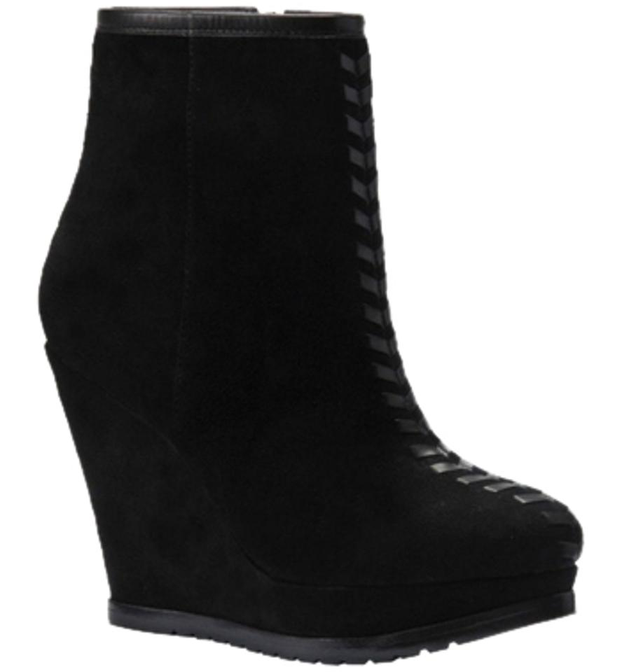 38055d225 Isola Black By Zurich Platform Suede Wedge Platform Boots Booties ...