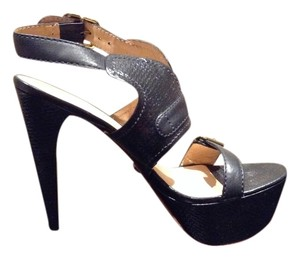 L.A.M.B. Lamb Leather Black Platforms