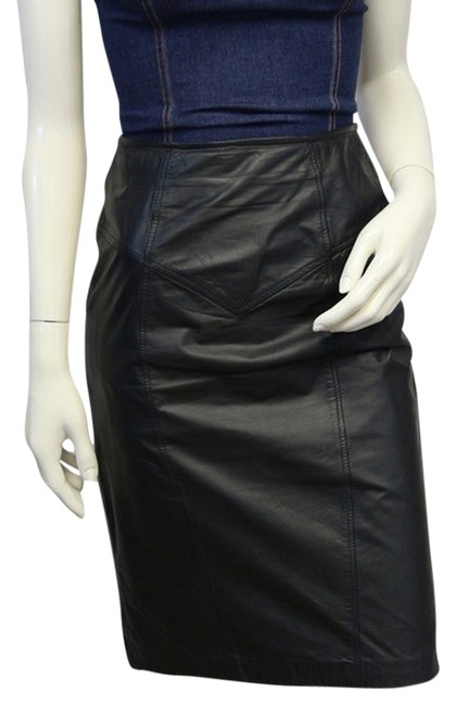 Item - Real Leather Party Black 3/4 Skirt Size 4 (S, 27)