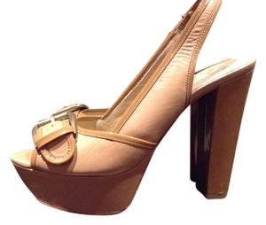 Joan & David Chunky Tan Platforms