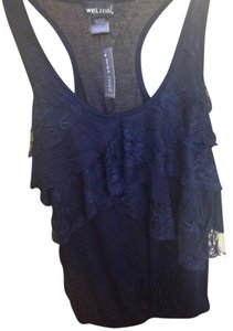 Wet Seal Raffle Lace Top Navy