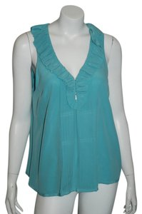 Joie Silk Blouse Top AQUA