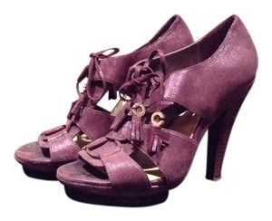 Coach Chunky Suede Plum Platforms