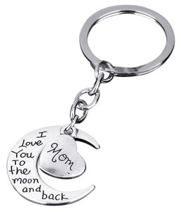 Other Mom I love you to the moon and back key chain key ring free shipping