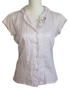 Odille Top Pale Purple with Flower Applique