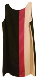 Isabel & Nina Colorblock Black/Fusia/Beige Dress
