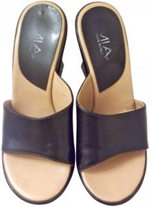 Mia Shoes Sandal Platform Party Date Night Leather Sexy Trendy Chic Night Out Black Wedges