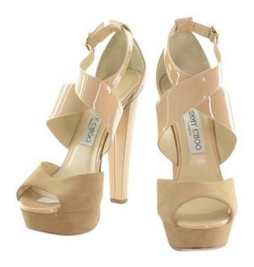 Jimmy Choo Nude Suede Sandals