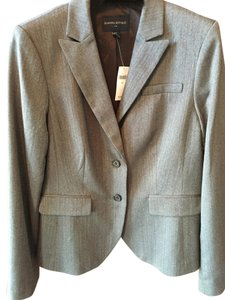 Banana Republic Grey/cream herringbone Blazer
