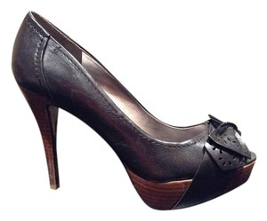 Guess Bow Peep Toe Stiletto Black Pumps