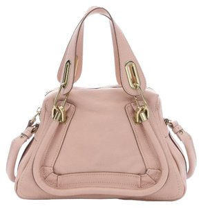 Chloé Shoulder Satchel in anemone pink