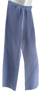 Issey Miyake Pleated Relaxed Pants Blue