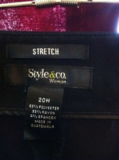 Style & Co Trouser Pants Black