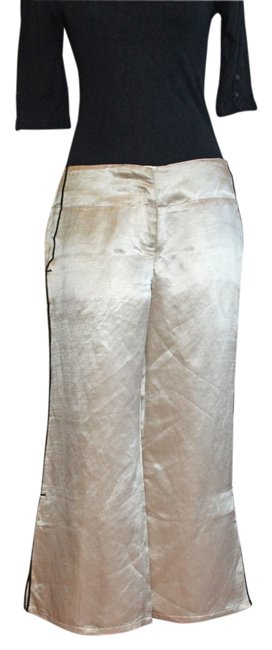 Item - Ivory Silk with Black Piping Pants Size 6 (S, 28)
