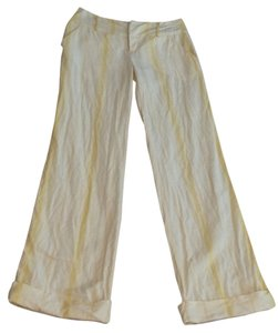 Free People Wide Leg Pants yellow & white