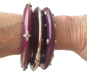 Miriam Salat MIRIAM SALAT STACKED BANGLES - ELECTRIC PURPLE REZIN AND CZ
