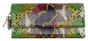 Dior Christian Dior Multi Color Python Wallet with Charms