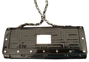 Versace Studded Patent Leather Monogram black with gold Clutch