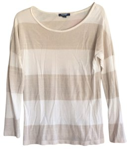 Old Navy T Shirt Beige and White with Gold flecks