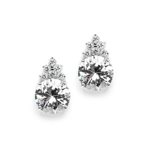Luminous Bold Round Crystal Stud Earrings