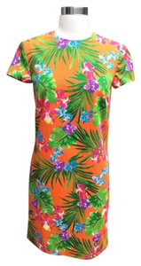 Ralph Lauren Black Label short dress Orange Floral Hawaiian on Tradesy