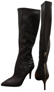 Nine West Leather Knee High Fall Dark Brown Boots
